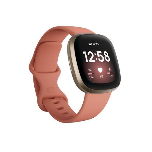 Smartband Fitbit Versa 3 Oro/Rosa