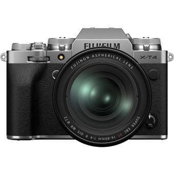 Cámara EVIL Fujifilm X-T4 + XF 16-80mm Plata