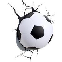 Lámpara decorativa pared 3D balón de fútbol