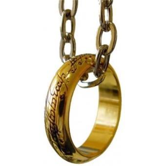 Colgante cadena y anillo único