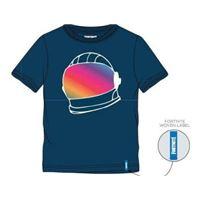 Camiseta Fortnite Helmet Azul - Talla XL