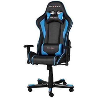 Silla gaming dx racer fe08 negra y azul accesorios los for Precio sillas gamer