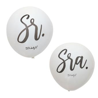 Mr Wonderful Globos para bodas - Sr y Sra