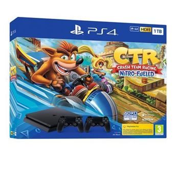 PS4 Slim 1 TB  + Crash Team Racing Nitro-Fueled  + DS4 v2