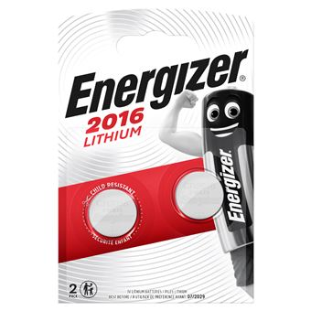 Energizer CR 2016 x2 Pila de Litio