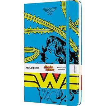 Cuaderno Moleskine Mujer Maravilla azul edición limitada