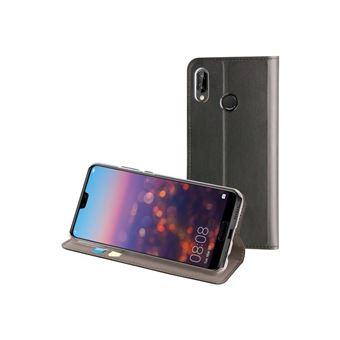 Funda Muvit Folio Stand Negro para Huawei P20 Lite