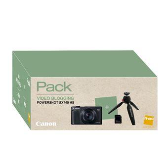 Cámara Digital Canon Powershot SX740 HS IS Negro + Trípode Pack