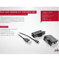 Kit carga y juega PRIF XBox 360