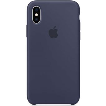 Funda Apple Silicone Case Azul Noche para iPhone Xs