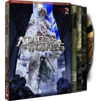 Ataque a los titanes - Temporada 1 - Segunda Parte - DVD