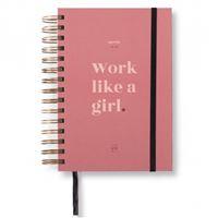UO Agenda A5 2019 - 2020 Día por página - Work like a girl