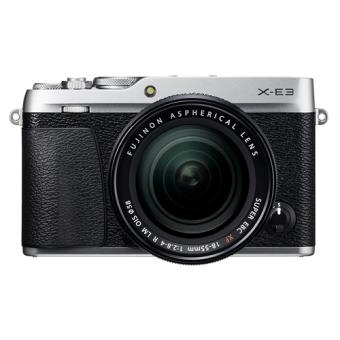 Cámara EVIL Fujifilm X-E3 Plata + XF 18-55 mm Negro
