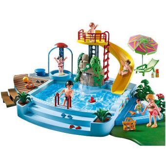 Playmobil piscina con tobogan sinopsis y precio fnac - Piscina infantil con tobogan ...