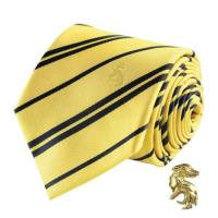 Corbata y pin Harry Potter - Hufflepuff