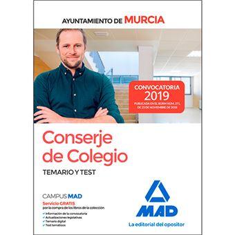 Conserje de Colegio del Ayuntamiento de Murcia - Temario y test