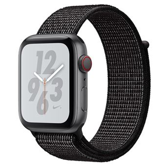 Apple Watch S4 Nike+ LTE 44 mm Caja de aluminio en gris espacial y correa Loop Nike Sport Negra