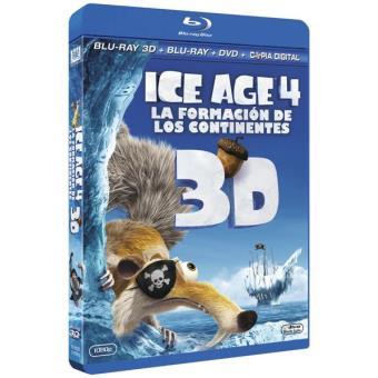 Ice Age 4: La formación de los continentes - Blu-Ray 3D + 2D + DVD + Copia digital