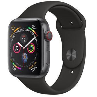 Apple Watch S4 40mm LTE Caja de aluminio en gris espacial y correa deportiva negra