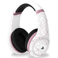 Headset gaming 4Gamers PRO4-70 Blanco/Rosa para PS4