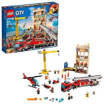 LEGO City Fire 60216 Brigada de Bomberos del Distrito Centro