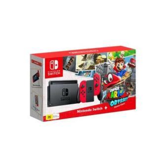 Nintendo Switch + Super Mario Odyssey  (Tarjeta de descarga)