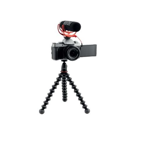 Cámara EVIL Fujifilm X-T200 Plata oscuro + 15-45 mm + Micrófono + Trípode Kit