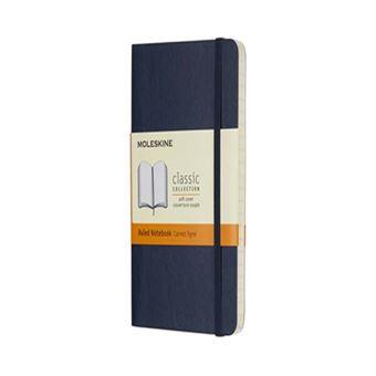 Cuaderno Moleskine Bolsillo Pautado Azul Zafiro