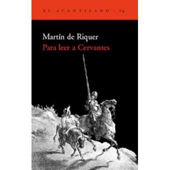 Para leer a Cervantes