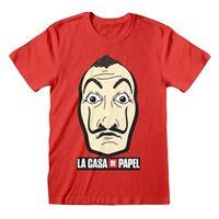 Camiseta La casa papel - Máscara Rojo S