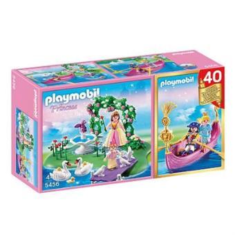 Playmobil Princess Compact Set Aniversario Isla de Princesa + Góndola Romántica