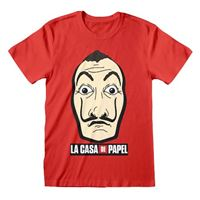 Camiseta La casa papel - Máscara Rojo M