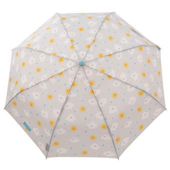 Mr Wonderful Paraguas pequeño gris - Estampado Nube