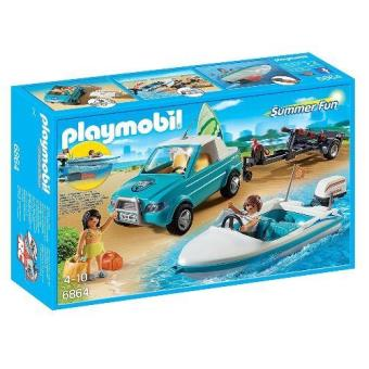 Playmobil Summer Fun  Pick Up con Lancha