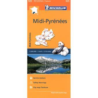 Mapa Regional: Midi-Pyrénées