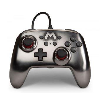 Mando Power A Mario Plata para Nintendo Switch