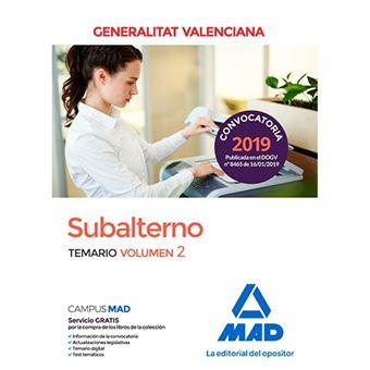 Subalterno de la Generalitat Valenciana - Temario volumen 2
