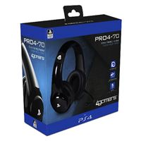 Auriculares Gaming 4Gamers PRO4-70 negros PS4