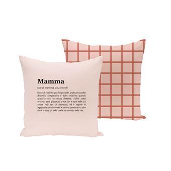 UO Funda cojín - Mamá Definición (Retícula rosa)