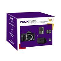 Cámara EVIL Canon EOS M50 + EF-M 15-45 mm IS STM + EF-M 55-200 mm IS STM Negro Pack