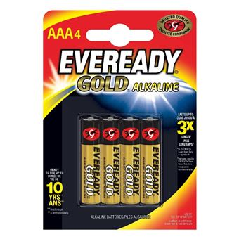 Energizer Pack 4 Eveready Gold AAA