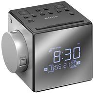 Radiodespertador Sony ICF-C1PJ AM/FM Proyección de hora Plata
