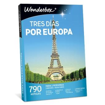 Caja regalo Wonderbox  Tres días por Europa