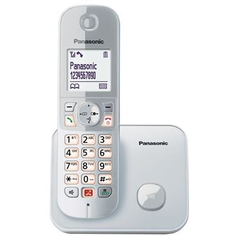 Teléfono inalámbrico Panasonic KX-TG6851SPS Plata