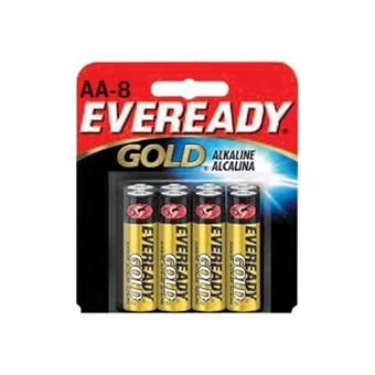 Pilas alcalinas AA Energizer Eveready Gold LR6 Pack 8