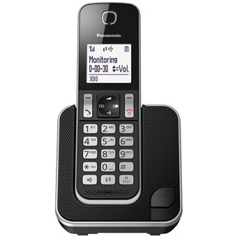 Teléfono inalámbrico Panasonic KX-TGD310 negro