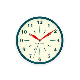 Reloj pared retro Kikkerland azul