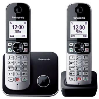 Teléfono inalámbrico Panasonic Dect Duo KX-TG6852SP Negro