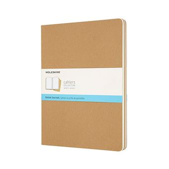 Cahier Journal Moleskine XL puntos marrón kraft