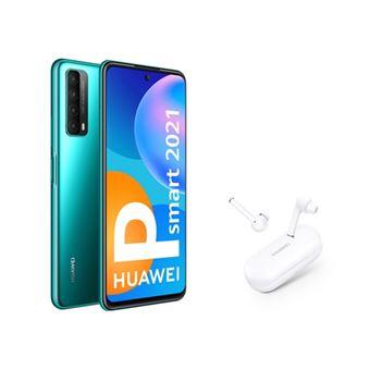 Huawei P Smart 2021 6,67'' 128GB Verde + Freebuds 3i Blanco